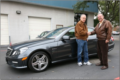 2010 MB E63 AMG Delivery Photo